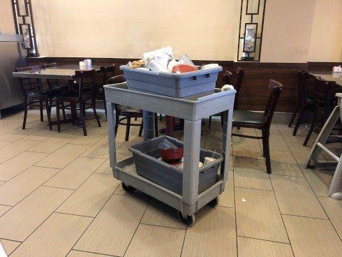 Restaurant Bus Cart Old